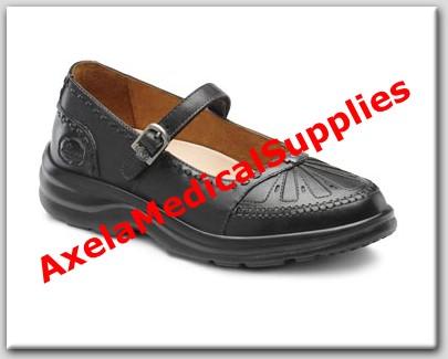 Dr. Comfort Paradise Womens Diabetic Shoes Black Leather