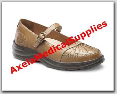 Dr. Comfort Paradise Womens Diabetic Shoes Saddle Tan Leather