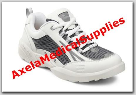 08c0b8cfea01bd Dr. Comfort Comfort Plus Mens Diabetic Shoes White-Grey Leather-Mesh