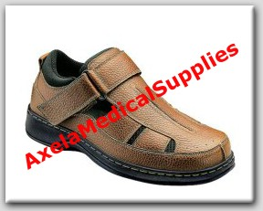 orthofeet melbourne 572 mens diabetic shoes brown leather